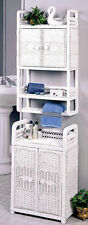 Wicker Two Door Wall Cabinet White # SVC301