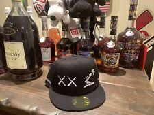 Hennessy Kaws Snapback Hat black supreme henny cap uniqlo