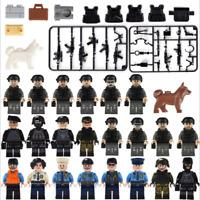 Bausteine Cartoon Militär Stadt Beruf Kinder Figuren Spielzeug Modell Geschenk
