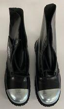 NEW Underground-England COMMANDO Black Leather external steel cap boot