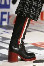 $2080 Christian Dior RIDER Runway Riding Boots Tall Knee Shoes 35 Booties