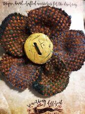handwoven irish donegal handwoven tweed lapel hat coat pin rainbow orange