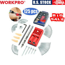 Handheld Woodworking Doweling Jig Drill Guide Wood Dowel Drilling Hole Saw Set