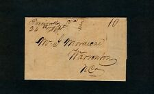 """Percivalls Va. 24th Sept"" 1830s Brunswick County to J. Mordicai, Warrenton, NC"