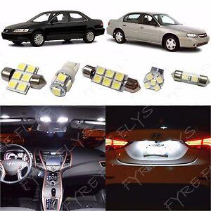 10x Xenon White LED Dome Interior Light Kit For Chevrolet Malibu 2000-2007 CM2W