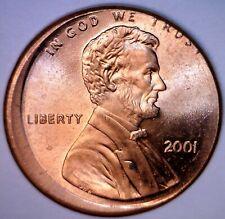 2001 ERROR Off Center Lincoln Cent Coin CH / GEM BU O/C Penny LOT #4    NR
