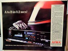 AIWA AD-R550 AUTO REVERSE AUDIOPHILE CASSETTE DECK 1985 ADVERTISEMENT