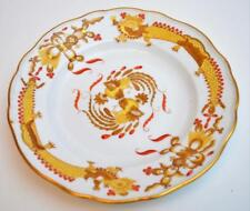 """Antq MEISSEN Germany Crossed Swords Mark Yellow DRAGON Red Dots 10"""" Dinner Plate"""