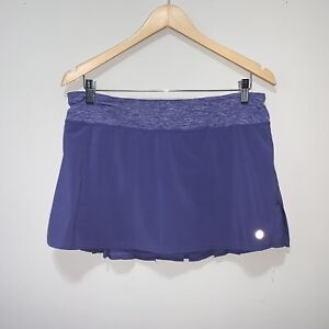 Women's Lululemon Fitness Run Speed Skirt Royalty Purple Size 8