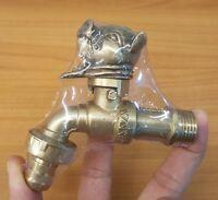Brass Garden Tap Faucet OX ฺBULL Spigot Vintage Water Home Decor Living Outdoor