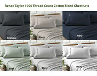 Renee Taylor 1900 Thread Count Cotton Blend Sheet sets