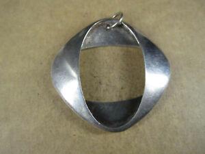 Rare Georg Jensen 368 Sterling Silver Square Ovals Pendant, Denmark, 12.3g