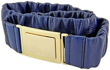Dolce Gabbana Navy Blue Leather Belt DC1133