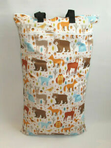 Extra Large XL Wet Bag - Baby Nappy Pail for Reusable Nappies & Pads - Forest