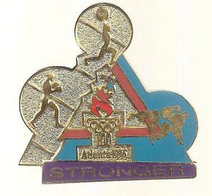 1996 Atlanta Olympic Pin Stronger Boxing Weightlifting Judo