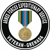 """Grenada Armed Forces Expeditionary Service Medal AFEM Veteran 5.5"""" Sticker Decal"""