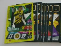 2020/21 Match Attax UEFA - Lot of 20 cards inc Star Palyer Jadon Sancho