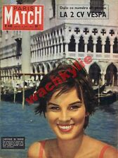 Paris Match n°440 du 14/09/1957 2cv Vespa Venise Chaplin Damas Mussolini Sagan