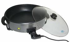 elektrische Pfanne Bratpfanne Elektro-Schmorpfanne Grillpfanne Elektropfanne NEU
