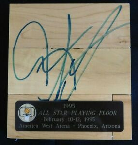 Dennis Rodman Signed Game Used America West Arena Floorboard JSA Authenticated