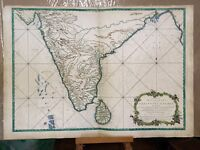 1766 English Colonial Map of India  Seur Bellin W. Herbert London Hydrographical