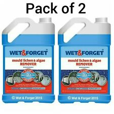 2 X 5L WET AND FORGET MOULD, ALGAE AND LICHEN REMOVAL. Free Next Day Delivery