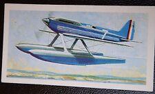 Supermarine S6B Sea Plane Racer     Vintage Colour Card # VGC