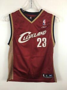 LeBron James Cleveland Cavaliers NBA Jersey VTG Reebok Size Youth Medium M
