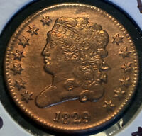 """*MAKE-A-$1,700 OFFER= 1829 """"SCARCE"""" RED CLASSIC HEAD HALF CENT REV ROT~MINT 487K"""
