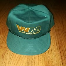Mens Waste Management WM Snapback Hat Cap Brand New