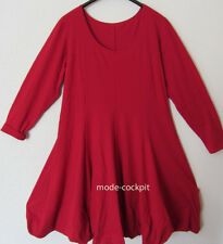 BORIS INDUSTRIES irres Ballon Kleid Lagenlook Baumwolle rot Gr. 46 (4)
