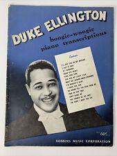Duke Ellington Boogie-Woogie Piano Transcriptions 14 Songs