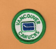 VINTAGE VANCOUVER CANUCKS 1st OLD LOGO PATCH 2 inch Unused Unsold Stock