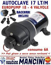 AUTOCLAVE EUROPUMP 18 12V 17 LT/M POMPA OSCULATI PRESSOSTATO DOCCIA BARCA CAMPER
