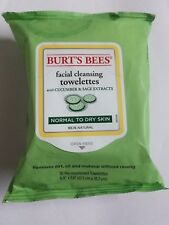 Burt's Bees Facial Cleansing Towelettes Cucumber Sage Normal-Dry Skin 30 Ct x12