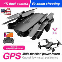 RC Quadcopter 5G 4K GPS Drone x Pro with HD Dual Camera Drones WiFi FPV Foldable