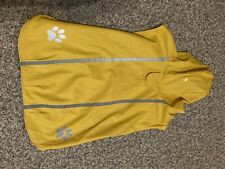 XL Top Paw Yellow Dog RAINCOAT Hooded Reflective Strip BLACK STRAP EXTRA LARGE