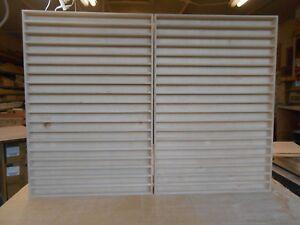 2 pc. 1:64 handmade display shelves Holds approximately 266 cars or light trucks