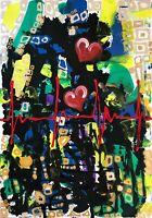 Margarita Bonke Leinwand Canvas PAINTING abstract abstrakt Love heart Malerei Om