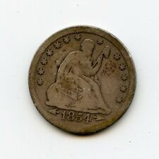 1854 WITH ARROWS SEATED QUARTER VG-CHEAP-L@@K REDUCED BETTER PICTURES