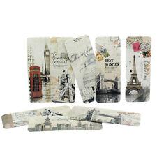 30pcs/Set Retro pro London Paris Book Marks Paper Reading Bookmark Flag Memo;~