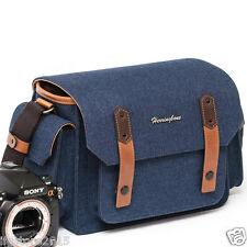 New Herringbone DSLR Camera Shoulder Bag Papas Medium Navy For DSLR Camera Bag