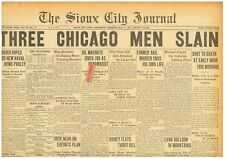 Al Capone Aids Killed for Valentines Day Massacre 3 Slain Indiana May 8 1929 B23