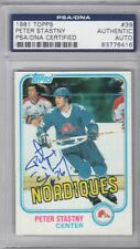 Peter Stastny Quebec Nordiques 1981 Topps Signed AUTOGRAPH PSA DNA