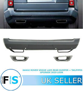 RANGE ROVER VOGUE L405 REAR BUMPER + TAILPIPES UPGRADE 2019 LOOK OEM FIT 13-19