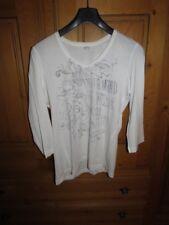 schönes, weisses, Shirt, s.Oliver, 42, Glitzerbrustprint in silber, 3/4 Arm