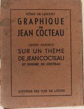 GRAPHIQUE DE JEAN COCTEAU HENRI DE LESCOET 1938