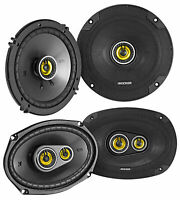 "Pair KICKER 46CSC6934 6x9"" 900 Watt+Pair 46CSC654 6.5"" Car Audio Speakers"