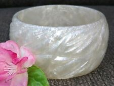 Vintage Bangle BRACELET Pearl Swirl 1 1/2 inches wide
