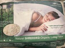 NEW Arpico 100% Natural Shredded Organic Latex Pillow. Standard. Latex Foam.